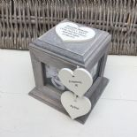 Shabby Chic PERSONALISED Rustic Wood In Memory Of DAD Photo Cube ANY NAMES
